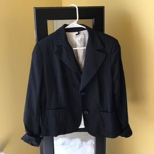 Black Striped Banana Republic Blazer